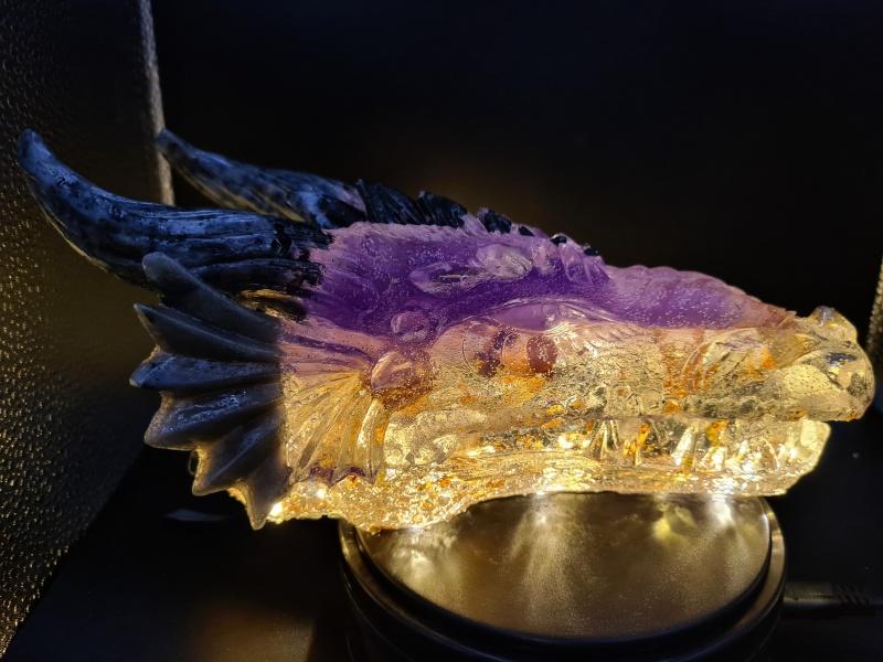 Drachenkopf Resin beleuchtet